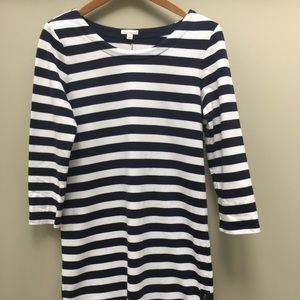 Gap Navy and White Striped Dress & Zippered Sides